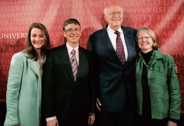 比爾·蓋茨和妻子梅琳達,老蓋茨和妻子瑪麗