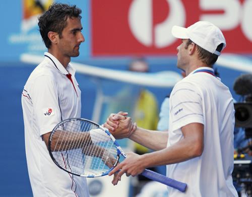 西里奇3-2淘汰罗迪克 强势晋级澳网四强
