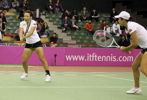 中国网球出战联合会杯 (资料图)