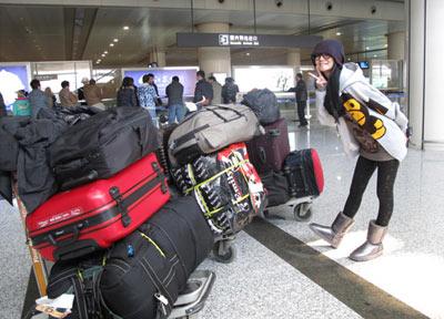 安以轩和海量行李