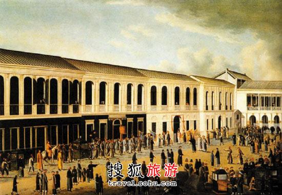 广州/描绘十三行昔日繁荣景象的老图片