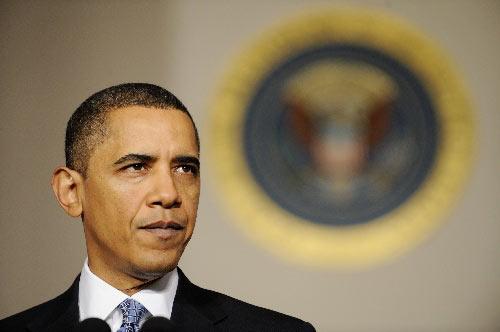 华盛顿,2010年2月1日 奥巴马提交2011财年预算。 新华社记者张军摄