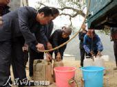 广西河池市组织142万人次全力开展抗旱救灾(图)