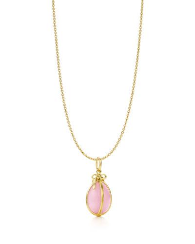 让・史隆伯杰设计的粉红蛋白石蛋形吊坠