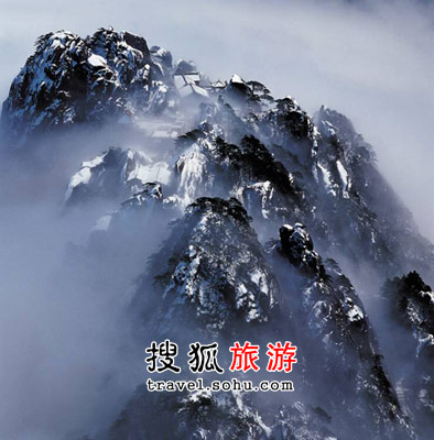 黄山的雪景独一无二