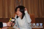 图文:正官庄杯颁奖仪式 朴智恩赛后接受采访