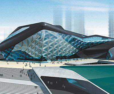 图为广州歌剧院建筑透视图。资料图片