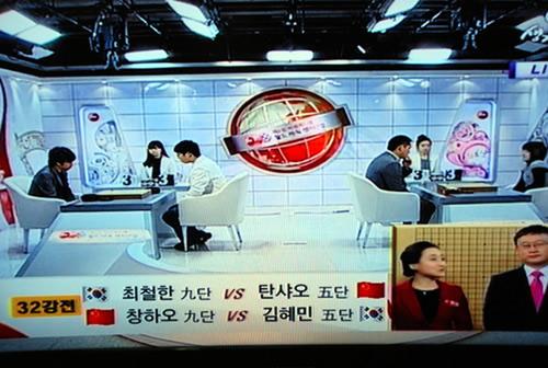 图文:BC卡杯32强战第八日 电视直播的现场全景