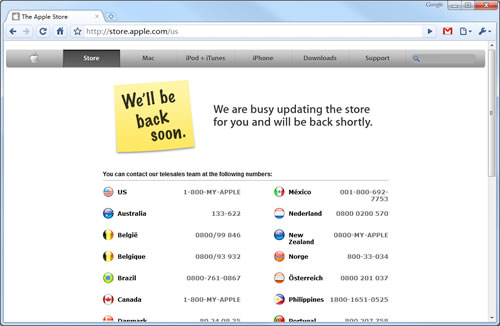 科技时代_苹果在线商店临时关闭 或将推新Macbook
