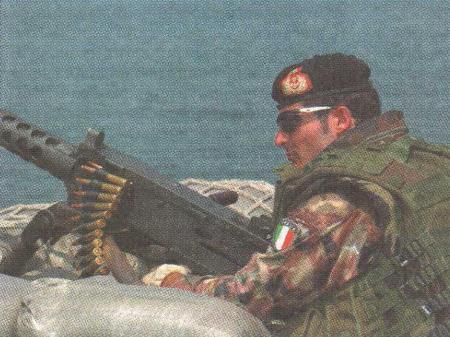 """""""圣马可""""团的海军陆战队员。"""