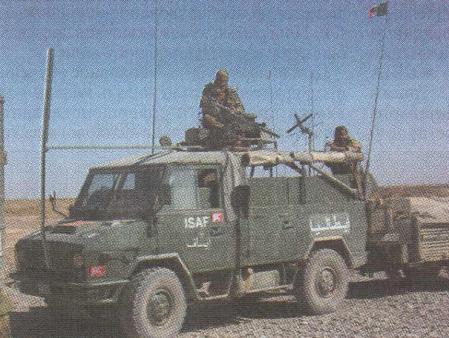 驻阿富汗国际安全救援部队的VM-90装甲汽车。
