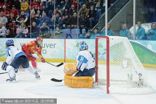 中国女冰1-2惜败芬兰