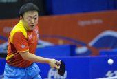 图文:乒乓球卡塔尔公开赛 马琳反手回球