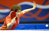 图文:乒乓球卡塔尔公开赛 姚彦近台回球