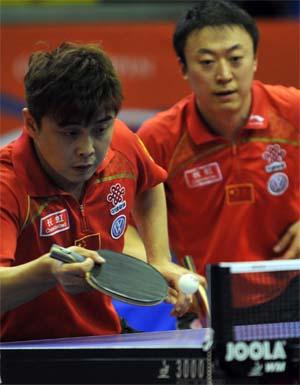 王皓马琳在比赛中 图片来源:国际乒联官网