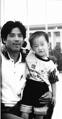 孙水林与儿子多年前的合影