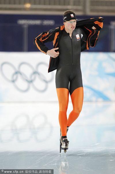 图文:速度滑冰男子10000米 荷兰选手克拉默