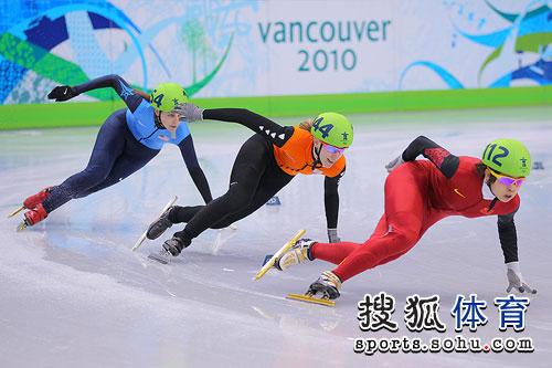 1000米预赛中国选手轻松晋级 王�髟诒热�中