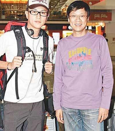 陈志云与TVB旗下艺人陈键锋(左)