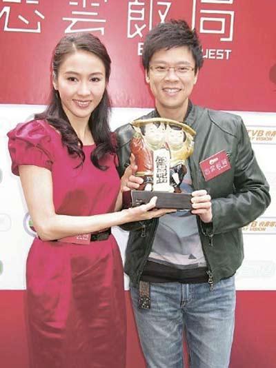 陈志云与TVB旗下艺人黎姿(左)