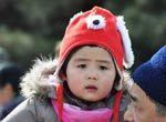 春节颐和园拍虎娃