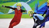 图文:王�骰衽�子1000米冠军 振臂欢呼庆夺冠