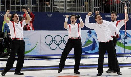 瑞士队庆祝瞬间