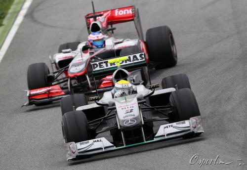 图文:F1季前末轮试第三天 巴顿追赶罗斯伯格
