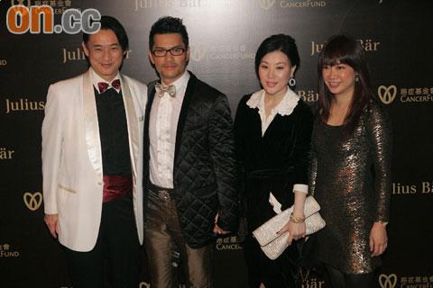 吕良伟(左二)与太太杨小娟(右二)的虎年愿望是生个宝宝