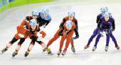 图文:短道速滑男子5000米接力 中国与奖牌擦肩