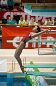 图文:德国站女子3米板 王涵起跳瞬间