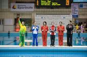 图文:德国站女子3米板 选手登场亮相