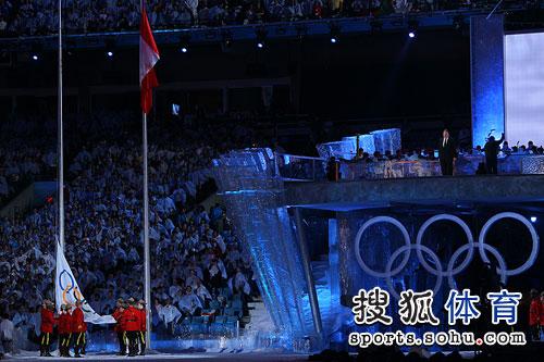 奥运会旗落下