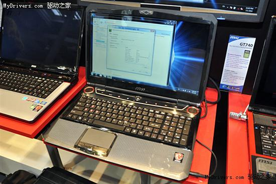 微星展示GTX 285M旗舰游戏笔记本