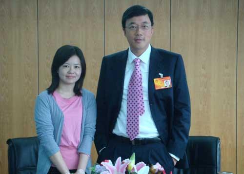 全国人大代表、中星微电子有限公司董事局主席邓中翰接受搜狐财经专访