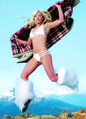 美国高空滑雪选手莱西・施诺尔