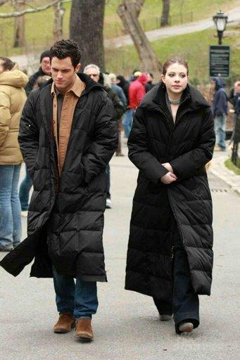 丹和乔治娜在中央公园进行拍摄