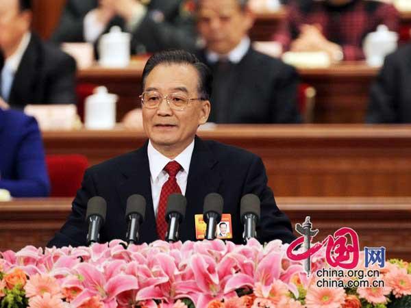 国务院总理温家宝同志作政府工作报告 徐讯
