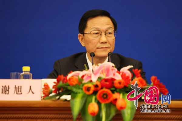 财政部部长谢旭人 中国网 胡迪