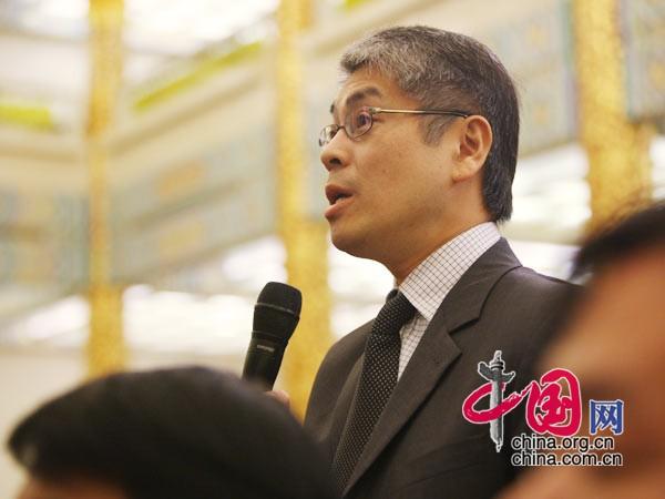 日本广播协会记者提问 中国网 胡迪