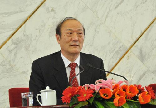 全国政协副主席厉无畏。新华网/中国政府网 翟子赫 摄