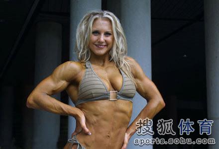 健美造就最强壮女人 魔鬼肌肉人令男士咋舌图