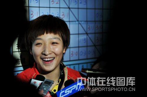 刘诗雯笑容灿烂