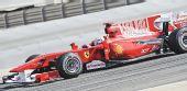 图文:F1巴林站第二次练习赛 马萨练习赛中驾车