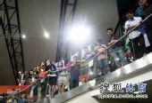 图文:室内世锦赛刘翔获第七 现场不少中国翔迷