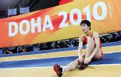 图文:世界室内锦标赛刘翔获第七 刘翔表情轻松