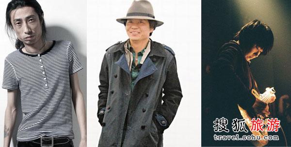 左:谢天笑 中:左小祖咒 右:后海大鲨鱼