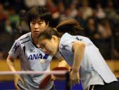 图文:德国乒乓球公开赛赛况 福原爱和石川佳纯