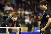 图文:德国乒乓球公开赛赛况 丁宁失利后的表情