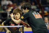 图文:德国乒乓球公开赛赛况 丁宁和李晓丹